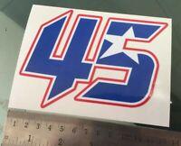 TP Scott Redding Number 45 Aufkleber Decal Sticker (130mm x 100mm ) /1115