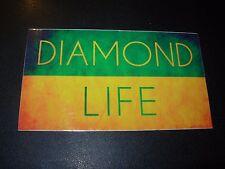 DIAMOND SUPPLY CO 3X5 GrYel Life Skate Sticker Logo skateboards helmets decal