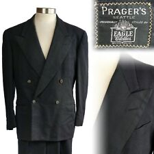 Vintage 1940s Eagle Clothes Double Breasted Tuxedo Suit 40 32x31