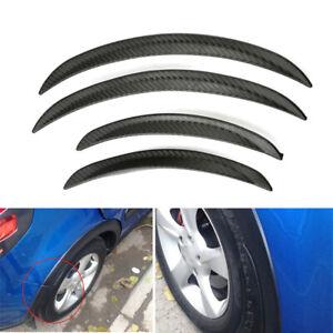 4PCS Carbon Fiber Look Car Body Fender Flares Wheel LIP Mudguard Truck 25cm×33cm