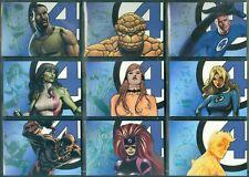 Marvel Fantastic Four ( LH 1 - 9 ) 9 Card Legendary Heroes  Insert Set
