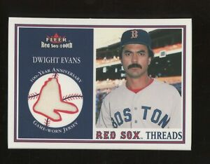 2001 Fleer Red Sox 100th Threads Dwight Evans GU Jersey