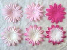 24 Pink fuchsia Handmade mulberry paper flowers daisy daisies petals Variety mix