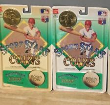 1990 Bandai Sport Stars Collector Coins w/ Bonus Coin Roger Clemens Jim Abbott