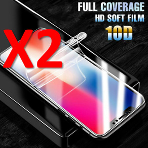 For iPhone X, XS, XR,11 12 13 Pro Max Full Screen Protector Soft Hydrogel Film