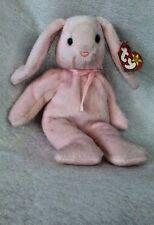 "Ty Beanie Baby ""Hoppity"" Rabbit Born April 3, 1996 PVC Errors UK Missing Retired"