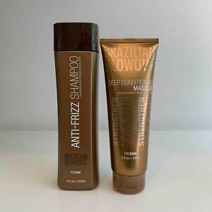 Brazilian Blowout Anti-Frizz Shampoo 12 oz & Deep Conditioning Masque 8 oz Duo