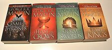 Lot 4 George R.R. Martin Game of Thrones, Clash of Kings, Feast of Crows, Storm