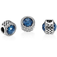 Pandora Charm 791725NMB Radiant Hearts Midnight Blue S925 ALE