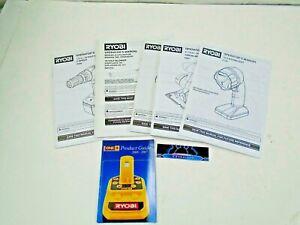 Ryobi 18V Manuals P700 Worklight P206 Drill p501 Circular Saw P740 Radio ZRP2102