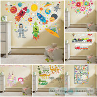 Childrens Kids Themed Wall Decor Room Stickers Sets Bedroom Art Decal Nursery