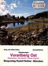 Bergführer Wanderführer Vorarlberg Ost, Bregenzerwald Arlberg, Rother Verlag