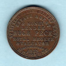 Australia Token . 1862  Peck Penny..  Melbourne Vic...  Arms reverse.. gVF