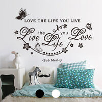 DIY Removable Art Vinyl Quote Wall Sticker Decal Mural Home Flower Room Decor