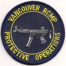 Canada R.C. M.P. RCMP Vancouver protective operazione SWAT SEK Police Polizia Patch