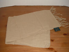 WOOLRICH SCARF ( 12 X 60 inches ) neck WRAP tan