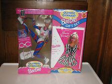"Barbie ""1996 Olympic Gymnast Gift Set"" With Fashion Nrfb Mattel 1995. Rare!"