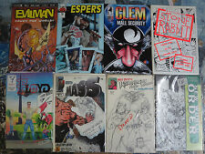 Independent Press Signed Comic Books Lot MiniLibrary  Evilman OG Street FighterB