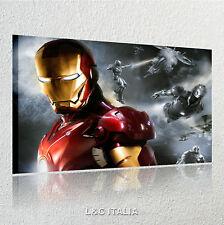 Iron man QUADRI 70x50 MODERNI ARREDO CASA STAMPE QUADRO  AVENGERS FILM MARVEL