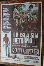 Used - Cartel de Cine  LA ISLA SIN RETORNO  Vintage Movie Film Poster - Usado