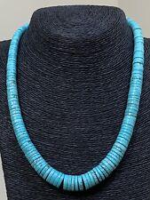 Santo Domingo Turquoise Heishi Bead Necklace 20 Inches