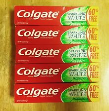 5 Pack Colgate Mint Zing Sparkling White Toothpaste, 4.0 Oz  Fast Shipping