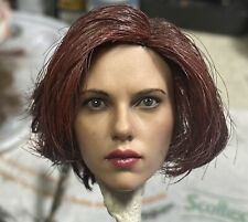 Original Hot Toys Black Widow Head Mms 460 Repainted In Avengers Hairstyle 1/6