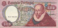 PORTUGAL BANKNOTE P177 500 ESCUDOS 1979, XF-AU