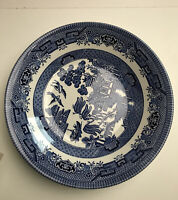 """Churchill China England  BLUE Willow Cereal Soup Bowls - Set of Six 8"""""""