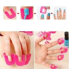 26pcs Nail Art Shield Manicure Finger Nail Polish Spill-proof Protect Clip USS