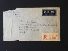 Chinese Envelope -- Shanghai China to New York USA 1946