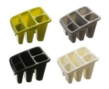 Whitefurze Plastic 5 Compartment Kitchen Sink Tidy Cutlery Drainer Filter Caddy