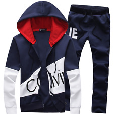 New 2PCS Mens Sweater Casual Tracksuit Sport Suit Jogging Athletic Jacket+Pants