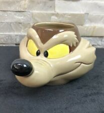 Vintage 1989 Looney Tunes Wile E Coyote Wiley Head 3D mug Cup ( Slight Chip )