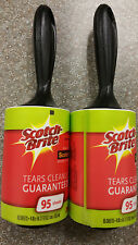Scotch Brite Jumbo Lint Roller 2  roll x 95 = 190 Sheets  Remove Pet Hair