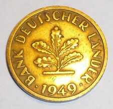 Germany - Federal Republic 10 pfennig Coin 1949F Excellent Condition World Coin