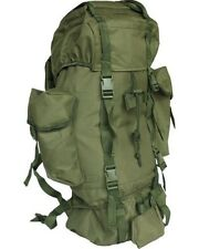 BRITISH ARMY STYLE CADET BACKPACK RUCKSACK in OLIVE GREEN 60 LITRE