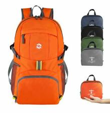 Orange Hiking Backpack 35L Lightweight Durable Material Multi-Compartments Stow