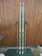 """GREAT Ready to Use Cross Country 79"""" KARHU  205 cm Skis + Poles"""