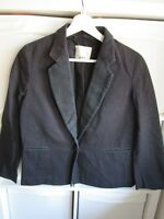 GREEN 3.1 PHILLIP LIM  black Tuxedo Jacket Blazer size US 4 UK S 8 Boyfriend