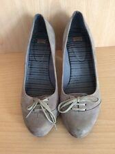 CAMPER Women's Grey Suede Court shoes - UK 4 / EUR 37
