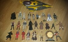Star wars action figures job lot used old modern loose various toys good ship
