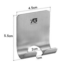 Stainless Shower Razor Holder Plug Holder Hook Self Adhesive for Bathroom
