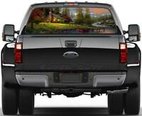 Cabin In The Woods Rear Window Graphic Decal Sticker Car Truck SUV Van 229