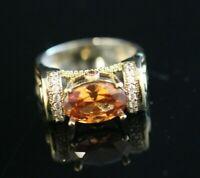 Turkish Handmade Jewelry Sterling Silver 925 Quartz Ring Ladies 6 7 8 9 10