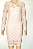 NEW WOMEN LADIES FLORAL LACE LONG SLEEVE DRESS TOP SIZE 8-10,12-14,16-18