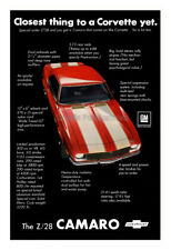1969 Chevrolet Z/28 Camaro Awesome Advertising Poster