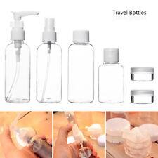 Travel Bottles Clear Portable Lotion Cream Toner Container Storage 9pcs #Am8