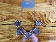 "Express Coppertone Six sided Glitter 15"" Necklace. NEW!"