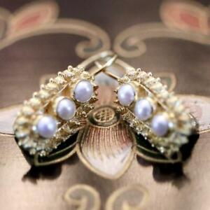 Clara Reve 14k Gold and Pearl Earrings: Museum of Jewelry